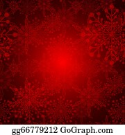 Snowflake - Abstract Red Christmas Snowflake Background