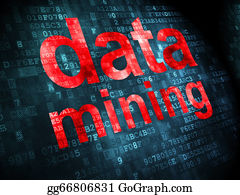 Mining - Information Concept: Data Mining On Digital Background