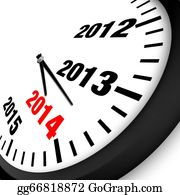 New-Year-2014 - 2014 New Year Clock