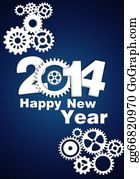 New-Year-2014 - 2014 Mechanical Gear New Year