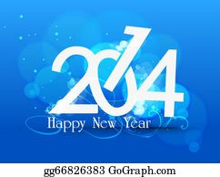 Happy-New-Year-2014 - New Year Abstract Background