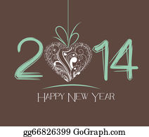 Happy-New-Year-2014 - New Year Greeting Card