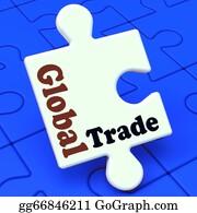 International-Trade - Global Trade Puzzle Showing Multinational Worldwide International Business
