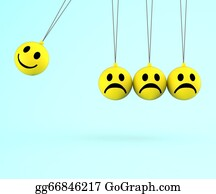 Emotions - Happy And Sad Smileys Shows Emotions