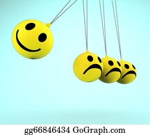 Emotions - Happy And Sad Smileys Showing Emotions