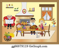 Illustration-With-Happy-Family - Thanksgiving