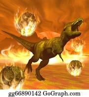 Due - Tyrannosaurus Dinosaur Exctinction - 3d Render