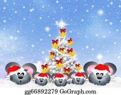 Christmas-Family - Mice Celebrate Christmas