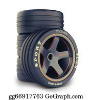 Race-Car - Slick Wheels Kit For Race Car