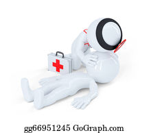 Cpr - Artificial Respiration. First Aid Help Concept