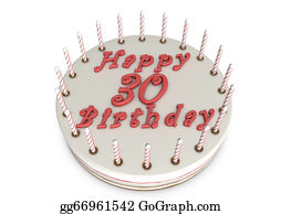 Stock Illustration - Cream pie for 85th birthday. Clipart ...
