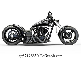 Motorcycle - Custom Black Motorcycle