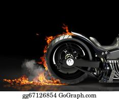 Motorcycle - Custom Motorcycle Burnout
