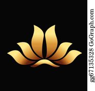 Golden-Lotus-Flower-Logo - Yoga Gold Lotus Flower Logo