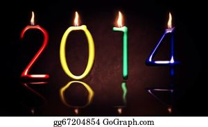 New-Year-2014 - New Year Candle