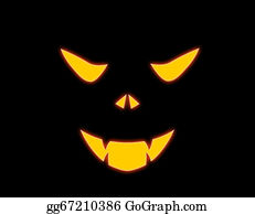 Growl - Halloween Evil Face