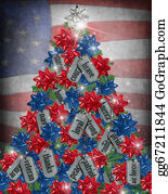 Bows - Military Christmas Tree