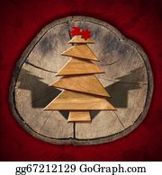 Trunk - Wooden And Stylized Christmas Tree