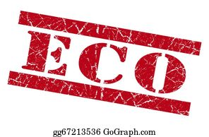 Eco-Friendly-Label - Eco Red Grunge Stamp