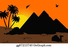 A-Palm-Tree-Sign-In-Yellow-And-Black - Egyptian Sunset