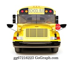 Bus-Drivers - School Bus Front View