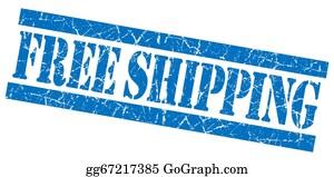 Air-Mail-Stamp - Free Shipping Blue Grunge Stamp