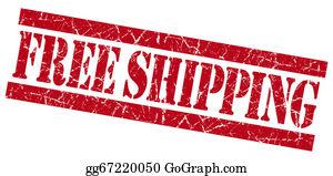 Air-Mail-Stamp - Free Shipping Red Grunge Stamp