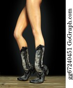 Cowboy-Boots - Female Legs Wearing Boots