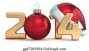 Year-2014 - Happy New Year 2014 Christmas Ball
