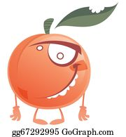 Nectarine - Crazy Cartoon Pink Peach Fruit Character Standing