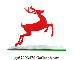 Reindeer-Christmas-Silhouettes - Christmas Deer Isolated