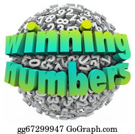 Lottery-Winner - Winning Numbers Ball Lottery Jackpot Game Sweepstakes