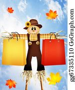 Scarecrow - Scarecrow With Bags For Sale