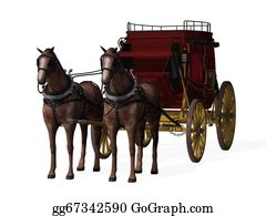 Southwest - Stagecoach With Horses