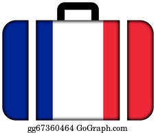 Suitcase - Suitcase With France Flag