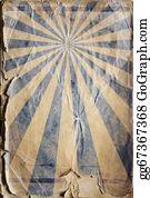 70s - Retro Revival Sunbeam Poster Background In Blue