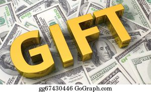 Cash-Prize - Gift On The Dollar Background
