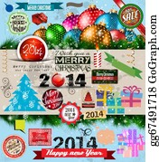 2014-Happy-New-Year-Box - 2014 Christmas Vintage Typograph Design Elements