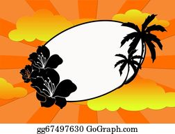 A-Palm-Tree-Sign-In-Yellow-And-Black - Tropical Frame