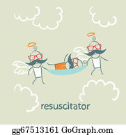 Cpr - Resuscitator Carry On A Stretcher Patient