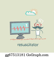Cpr - Resuscitation Is A Monitor Shows The Heartbeat