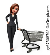 Trolley - Business Woman With Trolley