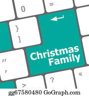 Christmas-Family - Christmas Family Message Button, Keyboard Enter Key