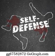 Armed-Forces - Self Defense Words Chalk Outline Body Defending Yourself Attack