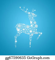 Reindeer-Christmas-Silhouettes - Silhouette Deer. Christmas Card