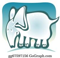 Blue-Elephant - Cartoon Elephant