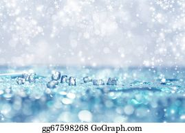 Falling-Snow-Background - Blue Background