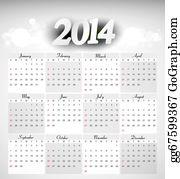 Calendar-For-January-2014 - Vector 2014 Year Calendar Sample Design