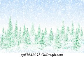 Falling-Snow-Background - Winter Christmas Forest