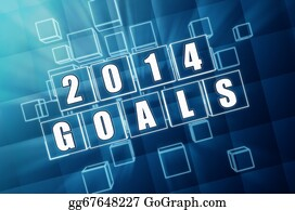2014-Happy-New-Year-Box - New Year 2014 Goals In Blue Glass Blocks